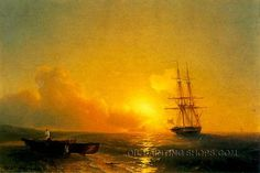 """Breaking Wave High Quality Neoclassical Oil Painting Reproduction Boat, Size: 36"""" x 24"""", $112. Url: http://www.oilpaintingshops.com/breaking-wave-high-quality-neoclassical-oil-painting-reproduction-boat-2049.html"""