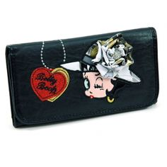 Wallet//Checkbook Holder Licensed Silver Betty Boop Very Detailed New