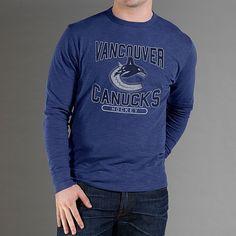 NHL '47 Brand Vancouver Canucks Logo Scrum Long Sleeve T-Shirt