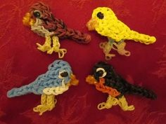 Rainbow Loom BASIC BIRD Charm. Designed and loomed by Jaclyn Lecaros at Lovely Lovebird Designs. Click photo for YouTube tutorial. 05/08/14.