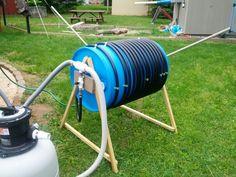 DIY solar pool heater