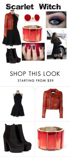 """""""Scarlet Witch"""" by aquatic-angel ❤ liked on Polyvore featuring Parker, Yves Saint Laurent and Oscar de la Renta"""