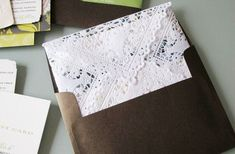 Are you ready for a cute, fun and easy diy project? DIY Doily envelopes and liners will add a personal and memorable touch to your wedding invitations. You can choose to either use a doily as a liner for your wedding invitation envelopes, or use the doilies as the envelopes themselves. Either way, it's fairly …