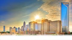 Charlotte Center City Partners facilitates and promotes the economic, cultural and residential development of the urban core. Sustainable City, Nc Real Estate, Design Competitions, Us Travel, North Carolina, The Good Place, The Neighbourhood, Charlotte Nc, Skyline