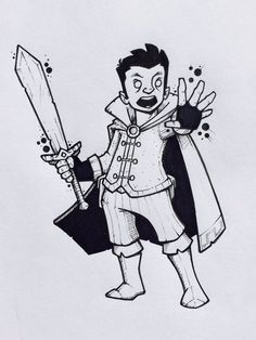 "Steve Armstrong on Twitter: ""Scanlan and Mythcarver #Scanlan #CriticalRole #Critters #Bard #Gnome #DnD #sword #drawing #doodle #sketch https://t.co/cjxSD9p3eZ"""