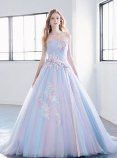 Thankful simulated ball gown quinceanera dresses Ask The Pros Cute Prom Dresses, 15 Dresses, Ball Dresses, Pretty Dresses, Ball Gowns, Fashion Dresses, Formal Dresses, Pastel Prom Dress, Rainbow Wedding Dress