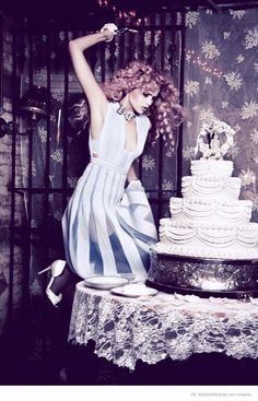 The Wedding featuring one of my all-time fave models, the beautiful Abbey Lee Kershaw as lensed by my all-time fave photographer Ellen Von Unwerth.