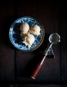 Something to do with all these grapes: White Grape Sorbet