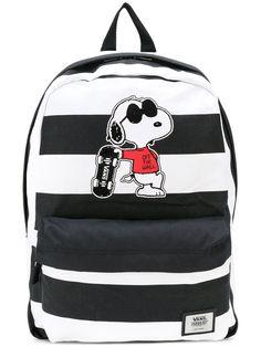 Main Image - Vans x Peanuts® Realm - Joe Cool Snoopy Backpack (Kids) Mochila Vans Disney, Cute Backpacks, School Backpacks, Joe Cool Snoopy, Black Backpack, Backpack Bags, Vans Backpack Girls, Vans Rucksack, Vans Bags