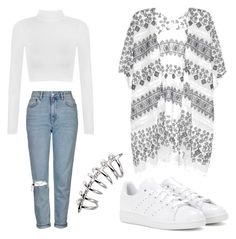 """""""Untitled #49"""" by blackishappycolour ❤ liked on Polyvore featuring WearAll, Topshop, Velvet and adidas"""