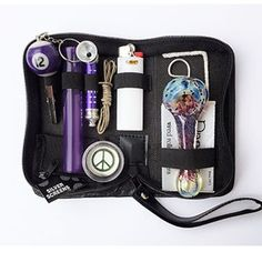 Price:    Buy with confidence from Cool FT Products! We have stellar customer service, fast shipping and random bonuses! This kit is an essential for the new smoker, or the seasoned one. A smattering of everything you'll need for smoking on the go!PURPLE Kit includes Leather Case with...