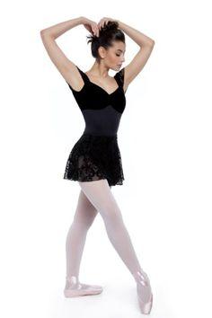 e23c8eaa677cf Collant com Bojo Veludo e Manga Tule Devorê – Material de Dança