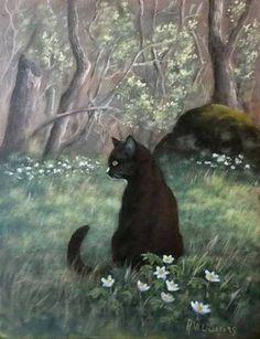First Spring - Astrid W Liljefors Swedish , b.1943- Acrylic on canvas, 46 x 37 cm