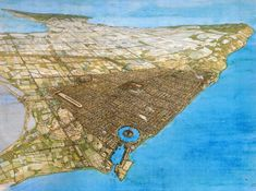 An accurate view of Roman Carthage, a city that was built by Julius Caesar on the site of the previously destroyed Punic capital. Ancient Egyptian Art, Ancient Aliens, Ancient Rome, Ancient History, Ancient Greece, Punic Wars, Roman City, Roman Era, Fantasy City