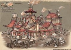 Feng Zhu Design: RPG Game Cutaways