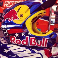 Ryan Dungey's red bull motocross helmet