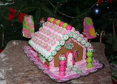 Pink gingerbread house Re-Lilly & The Pink Closet: December 2010