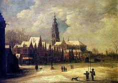 Frans de Momper (1603-1660) Zicht op Breda