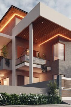 House Arch Design, Bungalow House Design, Small House Design, Cool House Designs, Villa Design, Modern Exterior House Designs, Modern Architecture Design, Hotel Architecture, Modern Design