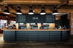 p/branding-branding-una-restaurant-und-mikrobrauerei - The world's most private search engine Pub Design, Brewery Design, Coffee Shop Design, Retail Design, Brewery Decor, Store Design, Logo Design, Cafe Restaurant, Restaurant Design