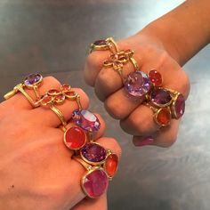 Double trouble #accumulation #rings #mariehelenedetaillac #pfwcestfiniabientot