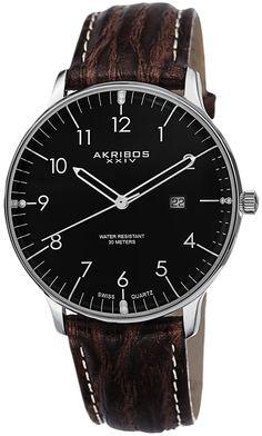 Akribos XXIV Silver-tone Stainless Steel Mens Watch AK715SSB