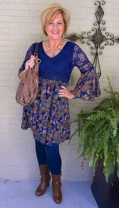 50 Is Not Old | The Secret To Marriage | Tunic | Dress | Boots | Fashion over 40 for the everyday woman #plunder #fashionblogger #rodanandfields #glowing