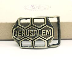 AMIEL Belt Buckle Israel Star Of David Handmade Bronze Jewish Free Shipping