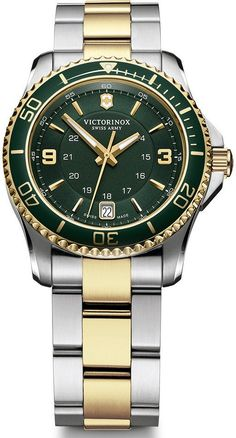 @vxswissarmy Watch Maverick Small #bezel-unidirectional #bracelet-strap-gold-pvd #brand-victorinox-swiss-army #case-material-steel #case-width-33mm #classic #date-yes #delivery-timescale-call-us #dial-colour-green #gender-ladies #movement-quartz-battery #official-stockist-for-victorinox-swiss-army-watches #packaging-victorinox-swiss-army-watch-packaging #style-sports #subcat-maverick #supplier-model-no-241612 #warranty-victorinox-swiss-army-official-3-year-guarantee #water-resistant...