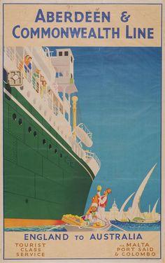 Aberdeen & Commonwealth Line - England to Australia -