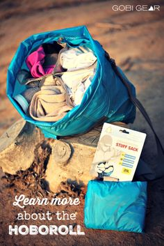 Organize your gear in 5 compartments with the HOBOROLL. It's the stuff sack that keeps you organized and saves time.