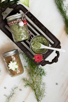 Basilikumsalz und Glühweinzucker - Geschenke aus der Küche + Freebie Stampin Up, Container, Food, Basil, Diy Gifts, Christmas Time, Sugar, Essen, Stamping Up