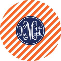 Monogrammed Melamine Plate by Gameday Girl Designs WAR EAGLE