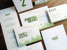 Garden Party Wedding Invitation Set that I created based on the design of the invitations I created for my own wedding