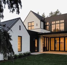 cost of architect for renovation Residential Architecture, Architecture Design, Architecture Interiors, Stommel Haus, Modern Farmhouse Exterior, Up House, Dream House Exterior, House Extensions, House Goals