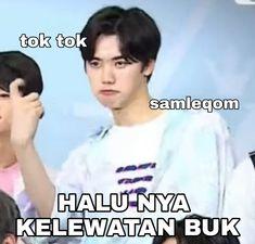 Memes Funny Faces, Funny Kpop Memes, Cute Memes, K Meme, Drama Memes, Cartoon Jokes, Korea, Na Jaemin, Just Kidding