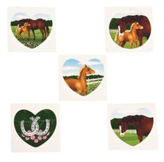 Pony party favours - horse tattoos (also good as an ice breaker when kids arrive at party)
