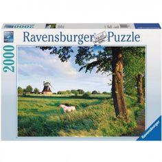 Lovak a Szélmalom előtt, Ravensburger puzzle 2000 db Ravensburger Puzzle, Puzzles, Puzzle