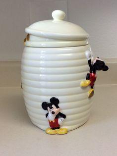Disney Mickey Mouse Bee Hive Cookie Jar - RARE #Disney #MickeyMouse
