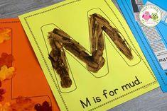 letter m ideas Preschool Letter Sound Activities, Letter Activities, Kindergarten Lessons, Preschool Learning Activities, Preschool Classroom, Math Lessons, Alphabet Crafts, Letter A Crafts, English Language