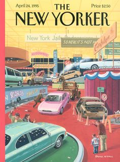"The New Yorker - Monday, April 24, 1995 - Issue # 3655 - Vol. 71 - N° 9 - Cover ""The Auto Show"" by Bruce McCall"