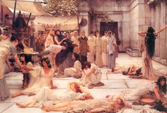 Sir Lawrence Alma-Tadema (Sir Lawrence Alma Tadema) (1836-1912) The Women of Amphissa Oil on canvas