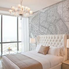 Vintage French Map Mural