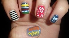 One Direction Nail Art Omg, KISS YOU VIDEO OUTFIT NAILS!! I LOVE THEM