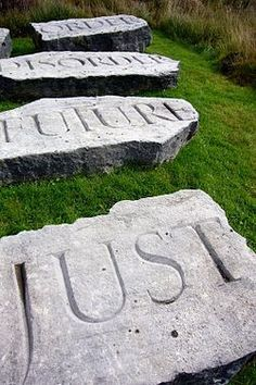 Little Sparta - The present order is the disorder of the future (St Just) - Little Sparta - Wikipedia, the free encyclopedia Hamilton, St Just, Sculpture, Conceptual Art, Public Art, Art And Architecture, Les Oeuvres, Album Covers, Creative