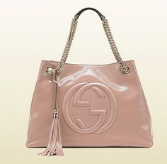 GUcci、Light pink patent leather