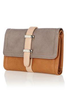 Colour block purse.Warehouse
