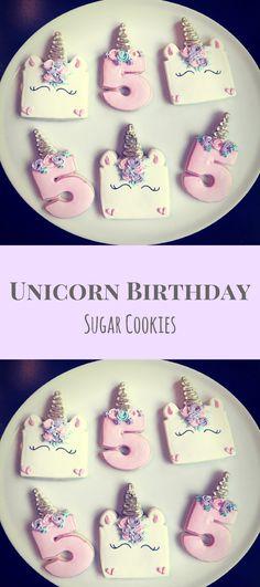 Unicorn Birthday Cookies / One Dozen Part Favors #affiliate
