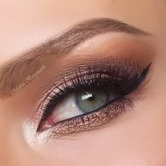 Shimmery lids in gorgeous pinkish brown hues are featured in this formal ready eye makeup. Follow the detailed how-to and discover the essentials needed to recreate this look for your next party.