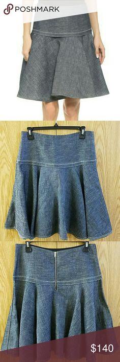ACNE STUDIOS Gisella Black // Flared denim skirt ($275) ❤ liked ...